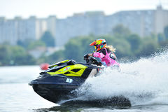 Professional jet ski riders Stock Images