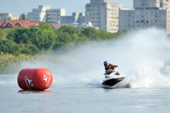 Professional jet ski riders compete at the Palazz Jet Ski Championship Royalty Free Stock Photos