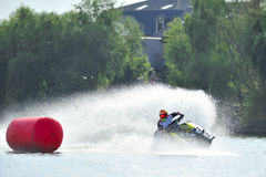 Professional jet ski riders compete at the Palazz Jet Ski Championship Stock Photo