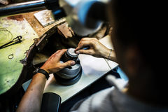 Professional jeweler working Royalty Free Stock Images