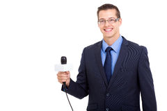 Professional journalist portrait Royalty Free Stock Photo