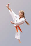 Professional karate girl Stock Image