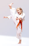 Professional karate girl royalty free stock images