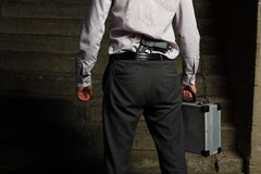 Professional killer on the street Royalty Free Stock Photography