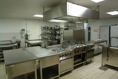 Professional kitchen. Overview of a professional kitchen with all the materials Stock Images