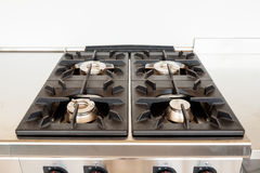 Professional kitchen, cooker gas Royalty Free Stock Images