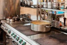 Professional kitchen interior Royalty Free Stock Image