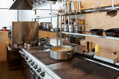 Professional kitchen interior Royalty Free Stock Photography