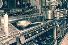 Professional kitchen interior, toned. Image Stock Images
