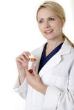 Professional lady pharmacist Stock Image