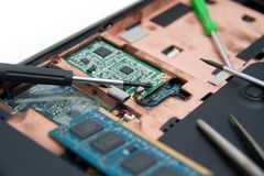 Professional laptop repair Royalty Free Stock Photos