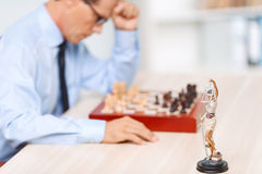 Professional lawyer playing chess Royalty Free Stock Photos