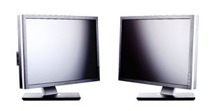 Professional lcd monitors Royalty Free Stock Photography