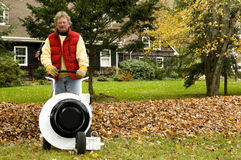 Professional leaf blower Stock Photography