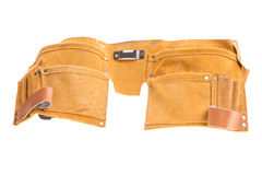 Professional leather tool belt. Royalty Free Stock Images