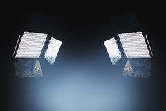 Professional LED lighting equipment for photo and video producti Stock Image
