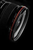 Professional lens. Professional SLR lens with brand name removed royalty free stock images