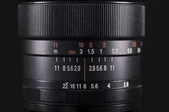 Professional lens for digital camera stock image