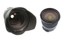 Professional lens isolated on white Stock Photo