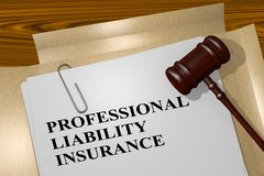 Professional Liability Insurance concept Royalty Free Stock Image