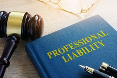 Professional liability on a table. Stock Images