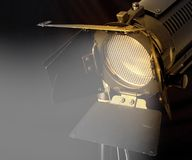Professional light. Close-up single light source with barn doors and full scrim Royalty Free Stock Images