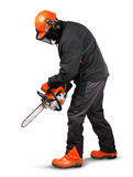 Professional logger safety gear Royalty Free Stock Photo