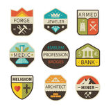 Professional logos and badges Stock Image