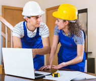 Professional  maintenance planner indoors Stock Photography