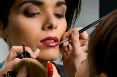 Professional make up Royalty Free Stock Photo