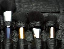 Professional make-up artist brush's Stock Photography
