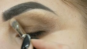 Professional Make-up Artist Makes The Makeup Smoky Eyes Of