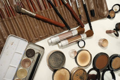 Professional make up artist set Royalty Free Stock Photography