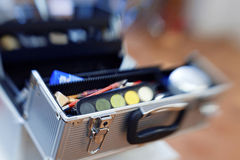 Professional make-up box Stock Images