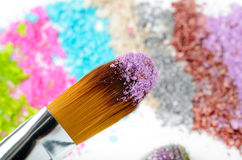 Professional make-up brush Stock Photography
