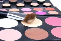 Professional make-up brush on corrector Royalty Free Stock Photo