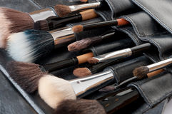 Professional make-up brush Royalty Free Stock Photos
