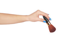 Professional make-up brush cosmetic Royalty Free Stock Images