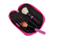 Professional make-up brush cosmetic Royalty Free Stock Photos