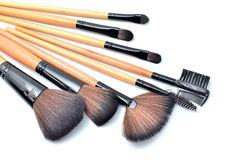 Professional make-up brush cosmetic Royalty Free Stock Photography