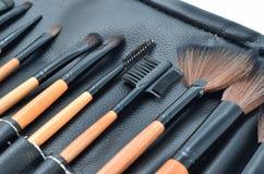 Professional make-up brush cosmetic isolated on white background Stock Image