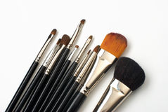 Professional make-up brush set Stock Photos