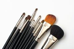 Professional make-up brush set Stock Photos