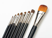 Professional make-up brush set Stock Photo