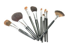 Professional make-up brushes Stock Image