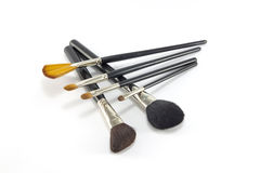 Professional make-up brushes. Royalty Free Stock Photo