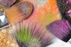 Professional make-up brushes Royalty Free Stock Images