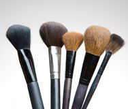 Professional make up brushes Stock Images