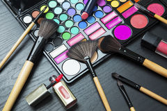 Professional make up and brushes Royalty Free Stock Image