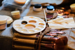 Professional make up brushes and cosmetic Royalty Free Stock Image